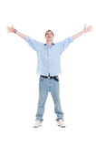 Happy man looking up Royalty Free Stock Images