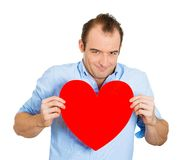 Happy man in love Royalty Free Stock Photos