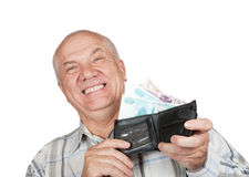 Happy man  with money Royalty Free Stock Photo
