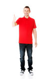 Happy man with ok hand sign Royalty Free Stock Photos