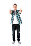 Happy man with ok hand sign Royalty Free Stock Image