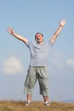 Happy man outdoor Royalty Free Stock Images