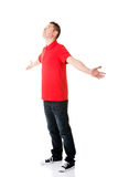 Happy man with outstretched arms. Royalty Free Stock Image