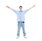 Happy man over white background Stock Photography