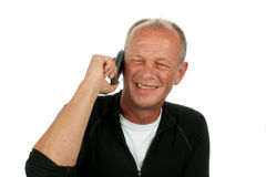 Happy man on the phone Royalty Free Stock Photo