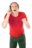 Happy man on phone Royalty Free Stock Images