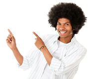 Happy man pointing Royalty Free Stock Image