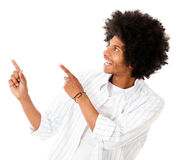 Happy man pointing Royalty Free Stock Photo