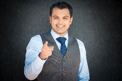 Happy man pointing at you Stock Photography