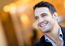 Happy man portrait Stock Photos