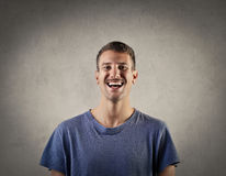 Happy man. Portrait of a happy man laughing Royalty Free Stock Photo