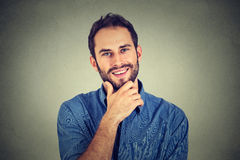 Happy man. Portrait happy young handsome man Stock Images