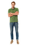Happy man posing in casuals. Royalty Free Stock Photography
