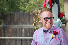Happy Man with Rose Royalty Free Stock Photography
