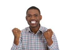 Happy man screaming with joy Stock Photo