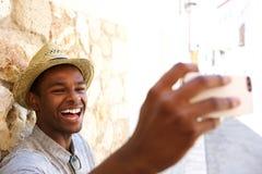 Happy man selfie Stock Image