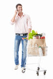 A happy man with a shopping Stock Photos
