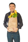 Happy man shopping food Royalty Free Stock Photo