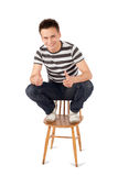 Happy Man Showing OK Sign Royalty Free Stock Photos