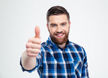 Happy man showing thumb up Royalty Free Stock Image