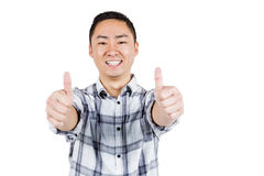Happy man showing thumps up a Royalty Free Stock Image