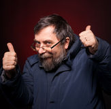 Happy man shows ok sigh Royalty Free Stock Photography