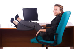 Happy with man sitting Royalty Free Stock Photography