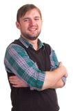 Happy man smiling stock photo
