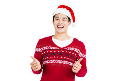 Happy man smiling and giving a thumbs up Stock Photography