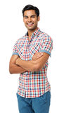 Happy Man Standing Arms Crossed Stock Photography