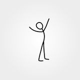 Happy man stick figure. Vector Royalty Free Stock Images
