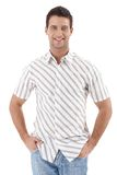 Happy man in summer shirt Stock Images