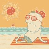 Happy man on summer vacation. Stock Image