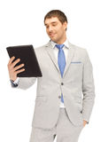 Happy man with tablet pc computer Royalty Free Stock Photos