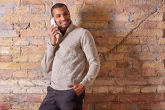 Happy man talking on the phone Royalty Free Stock Image