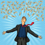 Happy man throws money Royalty Free Stock Photos