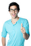 Happy man thumb up Stock Images