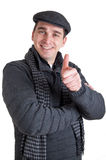 Happy man with thumb up Stock Images