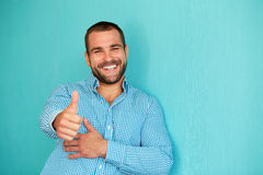 Happy man with thumb up Royalty Free Stock Images