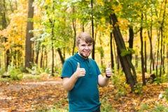 Happy man with thumb up Stock Photo