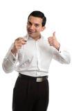 Happy Man Thumbs Up Wine Royalty Free Stock Photo