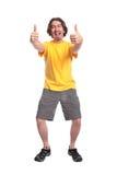 happy man thumbs up young Στοκ Εικόνες