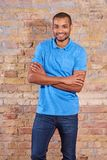 Happy man in a tshirt Stock Images