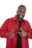 Happy man with two thumbs up Royalty Free Stock Image