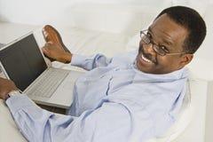 Happy Man Using Laptop Royalty Free Stock Image