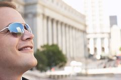 Happy Man Wearing Sunglasses Royalty Free Stock Images