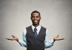 Happy man welcoming someone Stock Photography