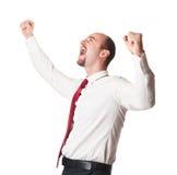 Happy man on white Royalty Free Stock Photos