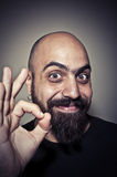 Happy man who says ok with his hand Stock Image