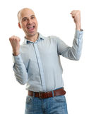 Happy man winner gesture Royalty Free Stock Image